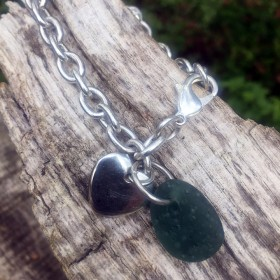 09_Sea stone and heart bracelet